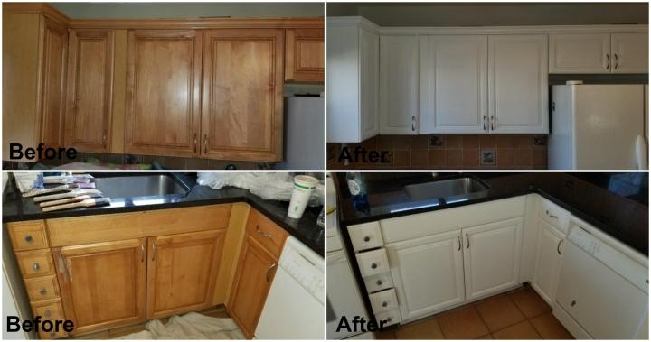 Peachy Kitchen Cabinet Painting Interior Design Ideas Gentotthenellocom